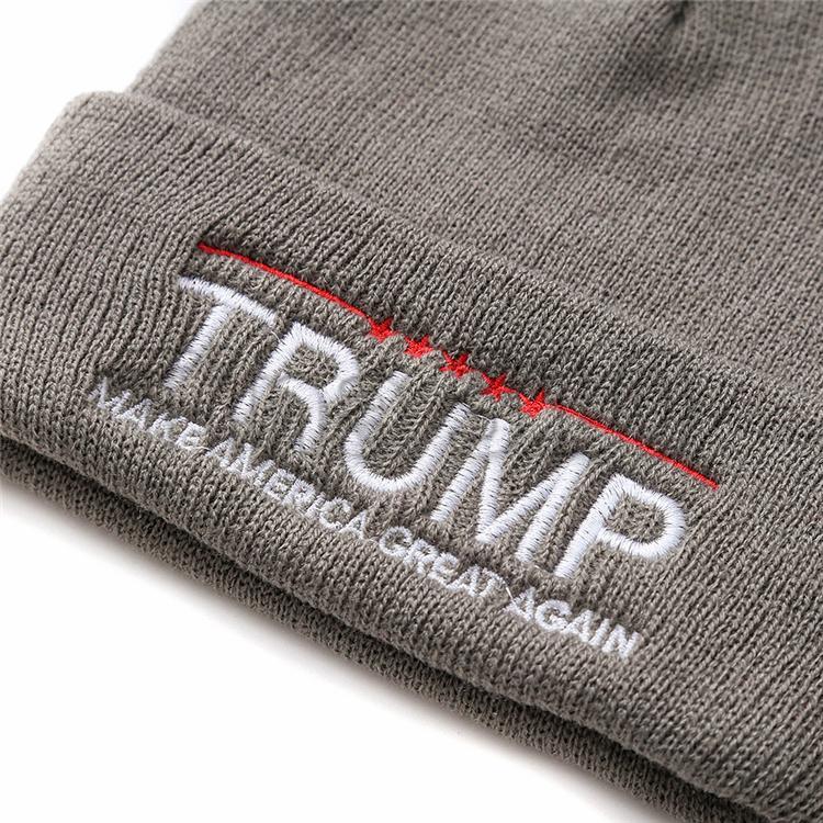 US-Präsidentschaftswahl 2020 Trumpf Anhänger Trumpf Propaganda Hut Herbst und Winter neue Strickmützen thermische Casual Wollmützen T3I5286