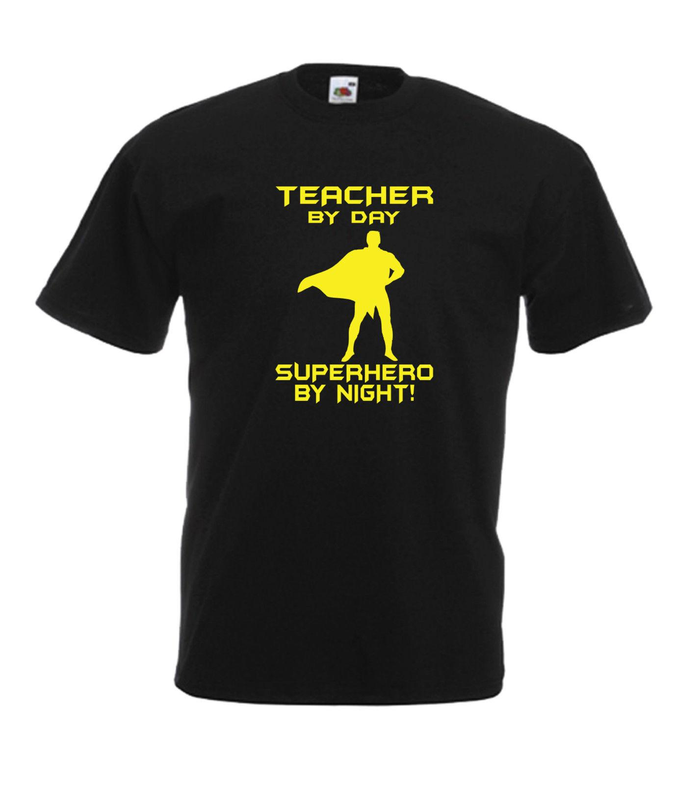 TEACHER SUPERHERO Funny School Christmas Birthday Gift Idea Mens Womens T SHIRT Casual Male Tshirt Men Tops Tees Shirts Geek From