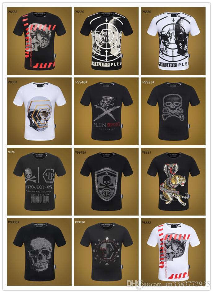 85e363bebff07 Compre Marca De Moda De Lujo Diseñador Camiseta PP EE. UU. Bandera Skull  Beads Camisetas Diseñador Camiseta Alta Calidad Skull Tees Para Hombre  Bandera De ...