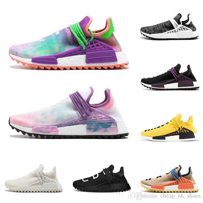 newest collection b7c0f a2a2d Acquista Human Race Hu Trail Pharrell Williams Uomo Scarpe Da Corsa Nerd  Black Pink Glow Mens Scarpe Da Ginnastica Donne Designer Sports Runner  Sneakers ...