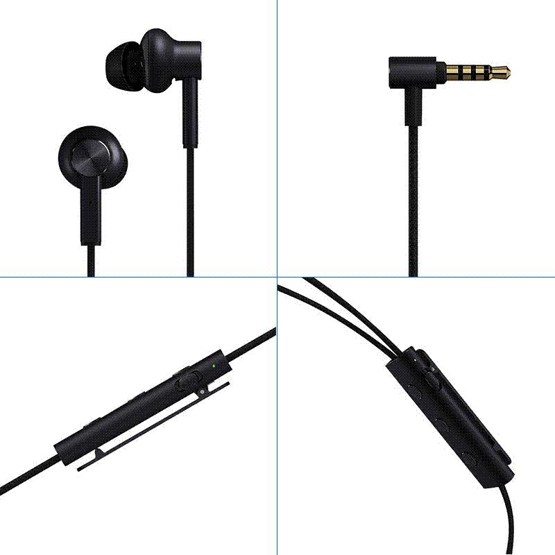 Xiaomi ANC Earphone Active Noise Cancelling Earphone 3 5mm jack Interface  In-Ear Mic Line Control for Xiaomi mi A1 Xiaomi S2 S 2