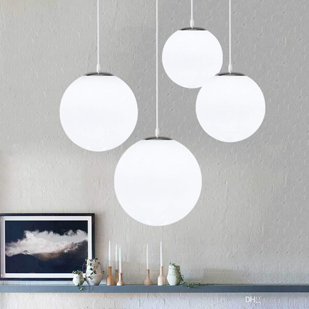 Modern chandelier with glass ball hanging lights single indoor pendant lamp for bedroom living room corridor dining room bar home decor