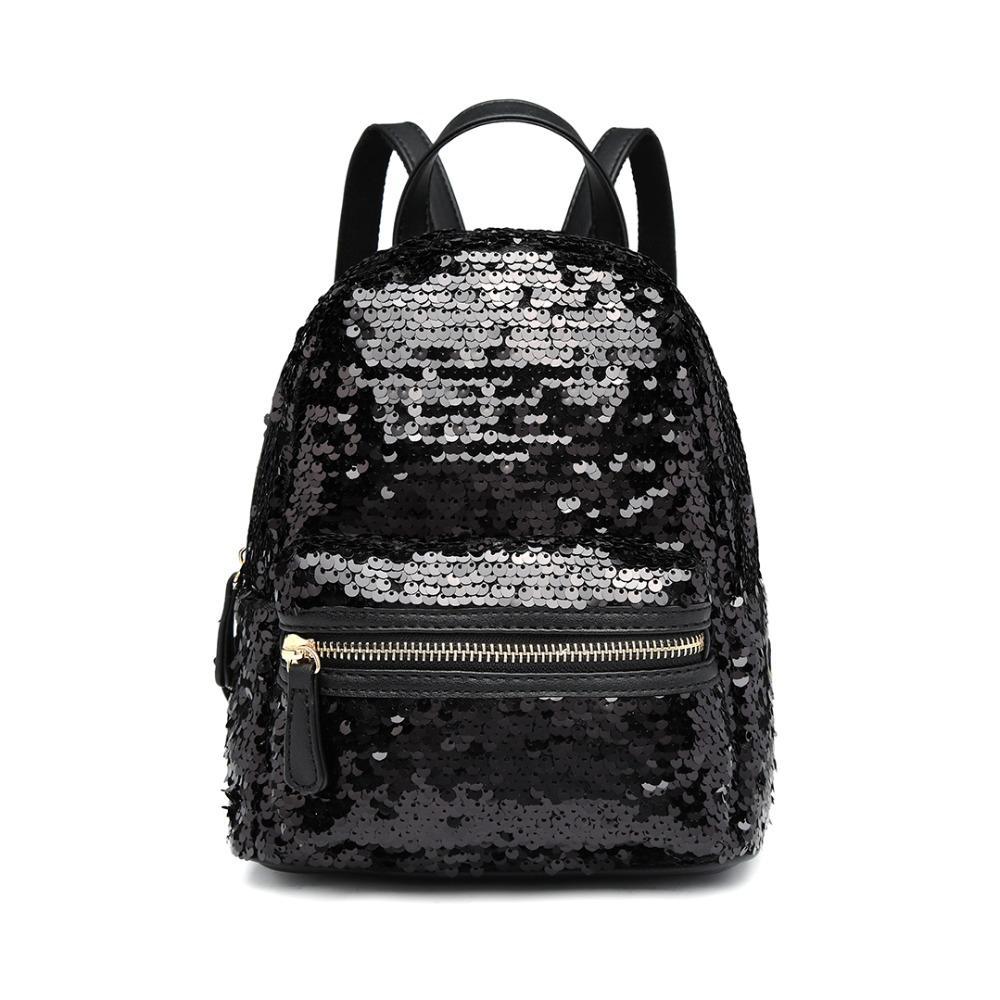 Lulu Backpack New Condition Source · Miss Lulu Women Backpacks School Bags  For Teenagers Girls Sequins 081c497b154f