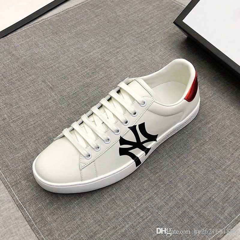 a4c6d9c17e Designer shoes Men and women Series printed sneakers Leather Embroidery  Casual Lace-up outdoor shoes 19 new luxury brand Italian creation