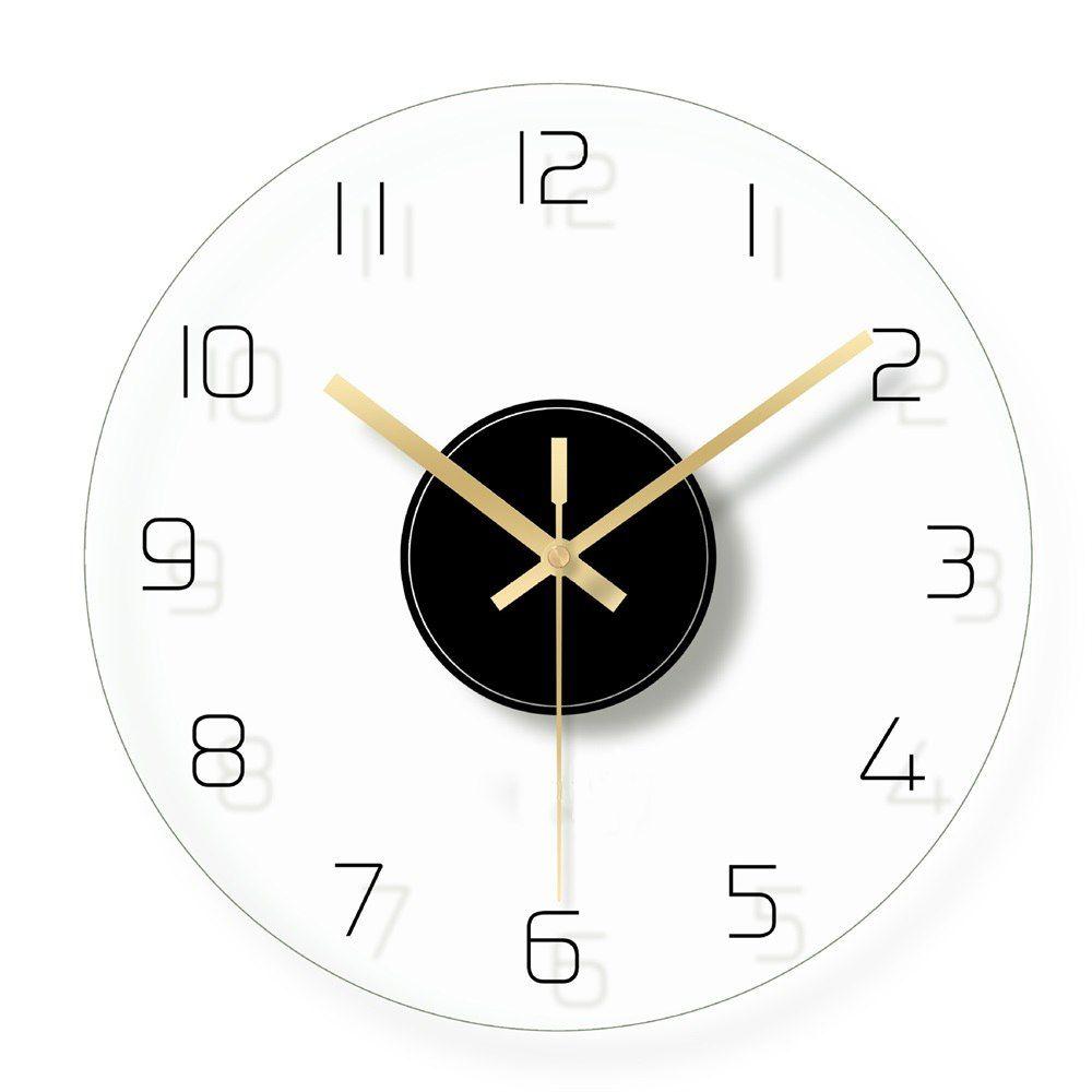 030f21735cbd Compre Número Árabe Reloj De Pared Decorativo Relojes Digitales De Cristal  Transparente Sala De Estar Cuarzo Reloj Colgante Diseño Moderno Decoración  Para ...