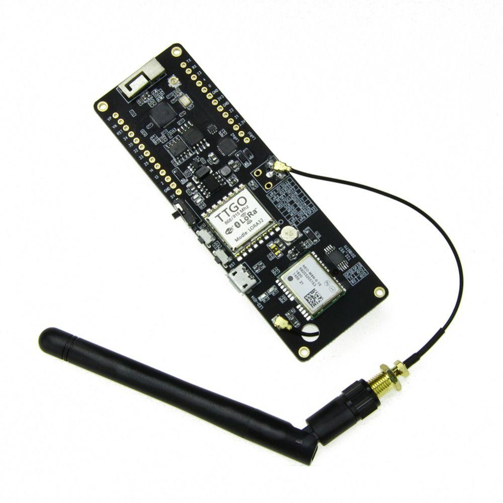 ESP 32 GPS NEO-6M SMA LORA 32 18650 Battery holder with SoftRF ESP32  433/868/915Mhz WiFi wireless Bluetooth Module