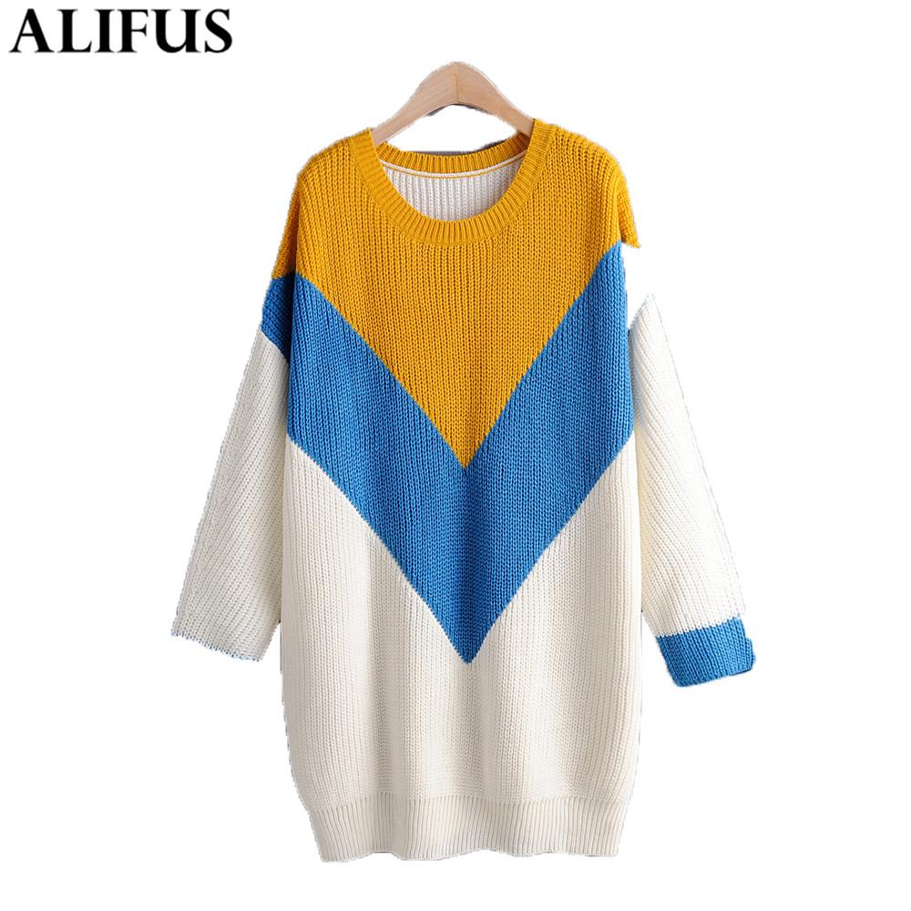 Fashion Za Women Sweater 2019 Winter Elegant Knit O-Neck Casual Long Sleeve Loose Pullovers Sweaters Jumper Ladies Tops