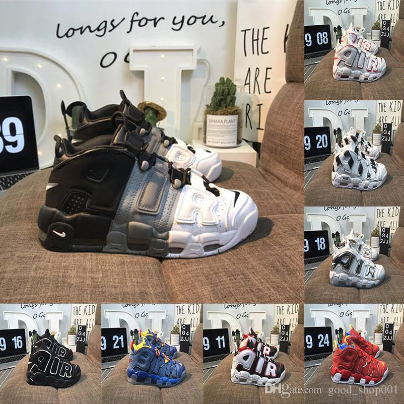 best authentic c597b f82c9 Scelta Scarpe Running 2018 Air More Uptempo Mens Scarpe Da Pallacanestro,  Alta Qualità Tri Color Scottie Pippen PE Triple Bianco Athletic Sport  Sneakers ...