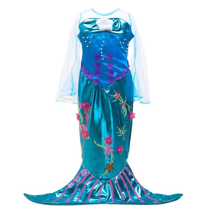 450959bc9956 Acquista The Little Ariel Princess Mermaid Tail Costume Ragazza Halloween  Cosplay Dress Fancy Party Classico Bambini Code A Sirena Bambini A  25.26  Dal ...