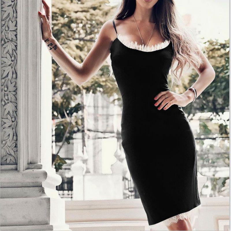 2019 2019 Fashion New Lady Slim Bodycon Bandage Dress Black Lace Strapless  Sheath Sexy Women Lace Dresses Vestido Evening Club Dress TY H5735 From ... 78a2f219f