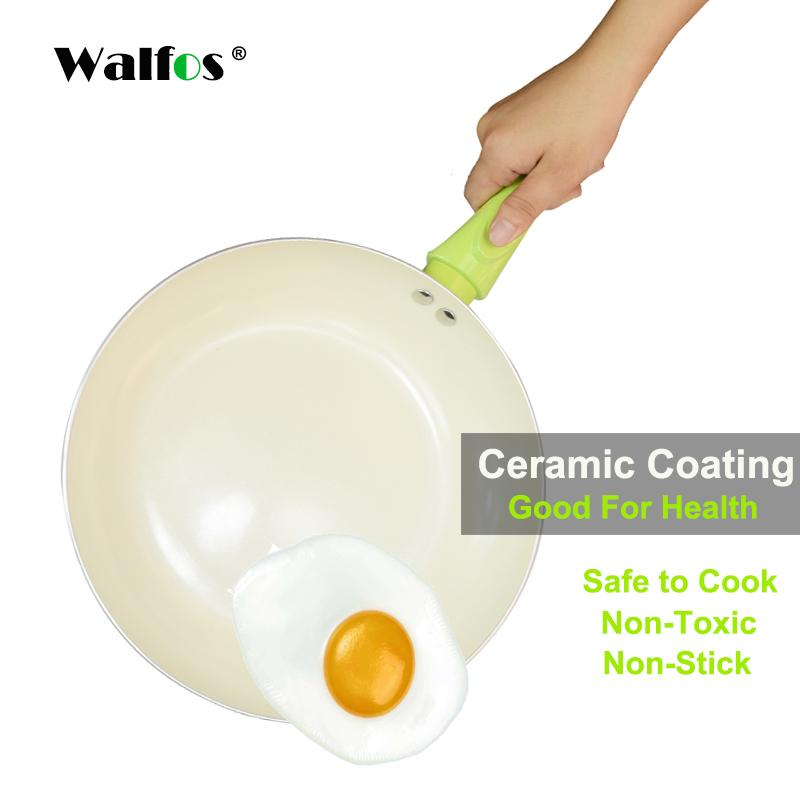 Non -Stick Frying Pan With Ceramic Coating And Induction Cooking ,Oven &Dishwasher Safe