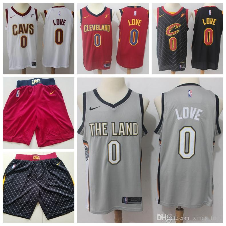 the latest 24912 17145 2019 New Mens 0 Kevin Love Cavaliers Basketball Jerseys Cavaliers New City  Jerseys Kevin Love Jerseys Gray Black White Red Cavaliers Shorts