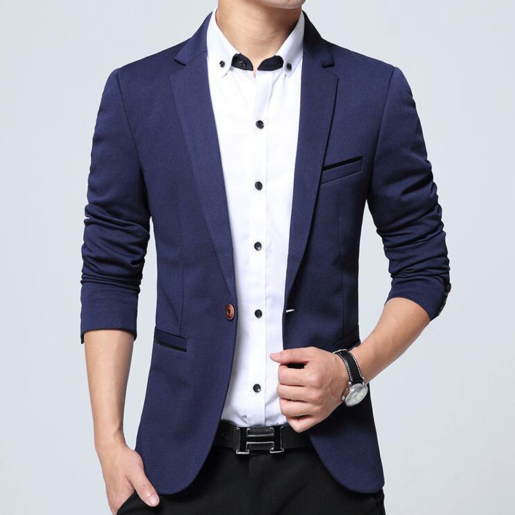 Hearty Men Suit Jackets Blazers Dress Suits Men Casual Fashion Slim Fit Single Button Style Large Size Blazers Men Blazers And Jackets Blazers