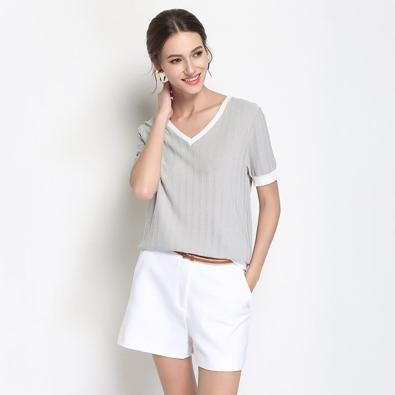 245952dee22879 Pop2019 pull à tricoter. Costume-robe en plomb à manches courtes Tanimani  facile volonté Code de la glace T pitié femme vendre des marchandises ...