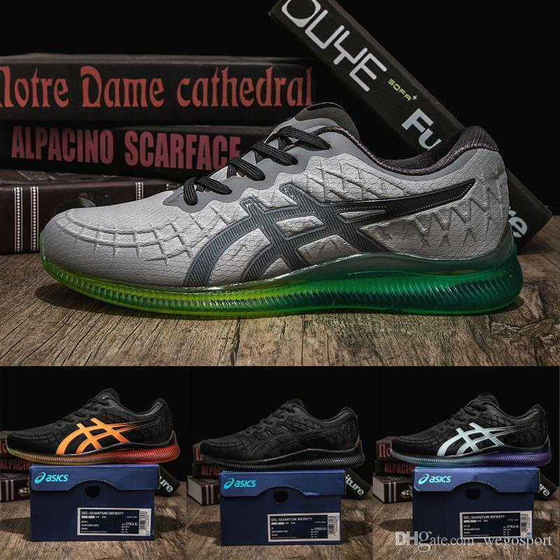 premium selection bc907 9bb26 New Asics Gel-Quantum Infinity Designer Mens Shoes Top Quality Black White  silicone Original Athletic Sport Running Sneaker