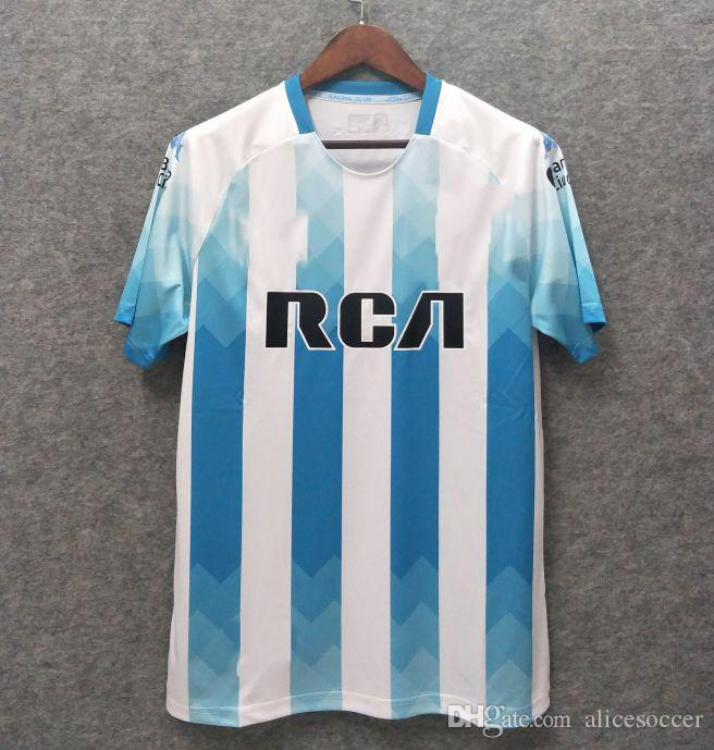 56b30205c 2019    2019 Argentina Racing Club Soccer Jersey Home New Argentina Home Soccer  Jersey Adult Kit Kids MESSI DYBALA DI MARIA AGUERO HIGUAIN From  Alicesoccer