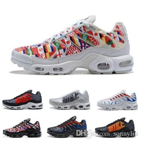 201d1ef18f5 Acheter Mercurial TN Plus Hommes Chaussures De Course Pour Hommes Casual  Coupe Du Monde Baskets Femmes Camouflage Sport Athlétique En Plein Air Pas  Cher ...