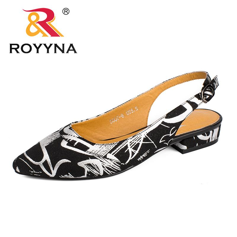 f56dc280a29 2019 ROYYNA New Fashion Style Women Pumps Pointed Toe Women Dress Shoes  Square Heels Lady Wedding Shoes Comfortable Online Clothes Shopping  Designer Shoes ...