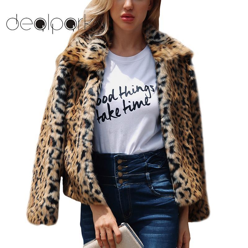 32b673710257 2019 2019 Autumn Winter Leopard Coat Women Faux Fur Coat Open Front Thick  Warm Cardigan Jacket Outerwear Overcoat Plus Size 3XL XXXL From Ziron, ...