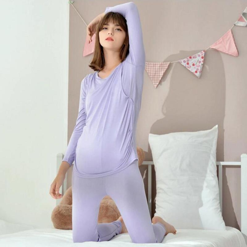 156da7c6d Compre Confortável Enfermagem Camisola Gravidez Sleepwear Pijamas De  Maternidade Enfermagem Pijama Maternidade Camisola A183 De Windowplant