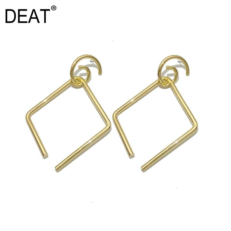 [DEAT] Women Split Joint Personality Geometric Earrings New Temperament Fashion Tide All-match Spring Autumn 2019 13E572