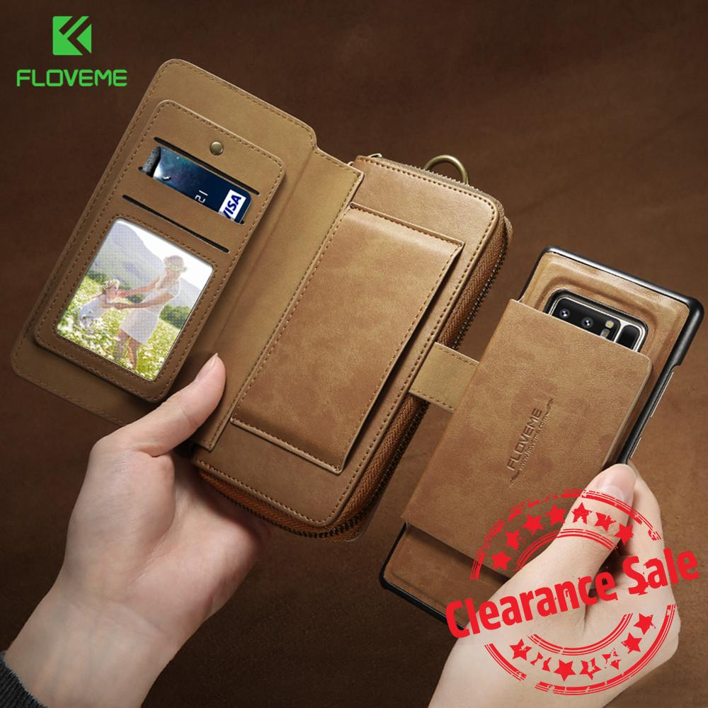 official photos d4b45 fe3f6 FLOVEME Business Wallet Phone Cases For Samsung Galaxy S8 S7 S6 Edge Plus  Case Luxury Retro Leather Case For Samsung Note 8 5