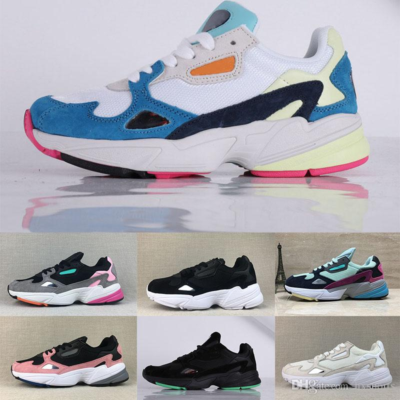 81d8a6d10d9 2019 Falcon W Running Shoes Men Women Black White Grey Blue Green Dad Shoes  Trainers Designer Sneakers 36 44 From Hxsports
