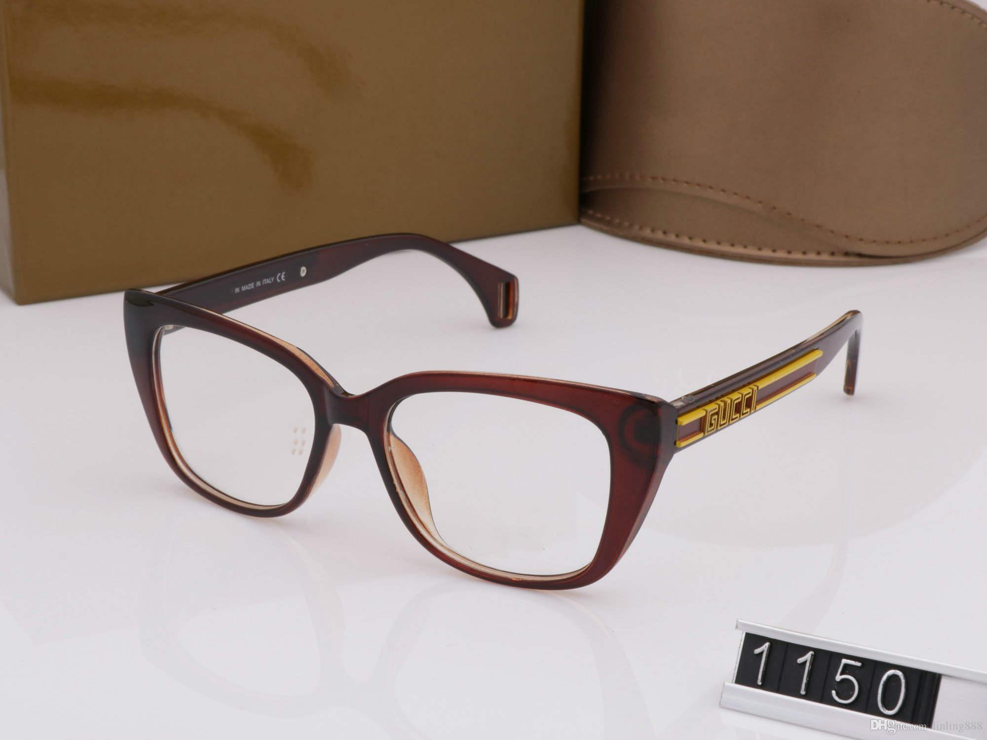 267fb4e8 Nuevos marcos de anteojos de lujo para hombres y mujeres gafas de sol 52mm  1150 Moda de marco completo para mujer Vintage Retro Diseñador de la marca  ...