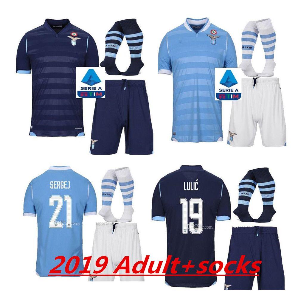 2020 Adult KIT 2019 Lazio Home Soccer Jerseys 19 20 Away F ...