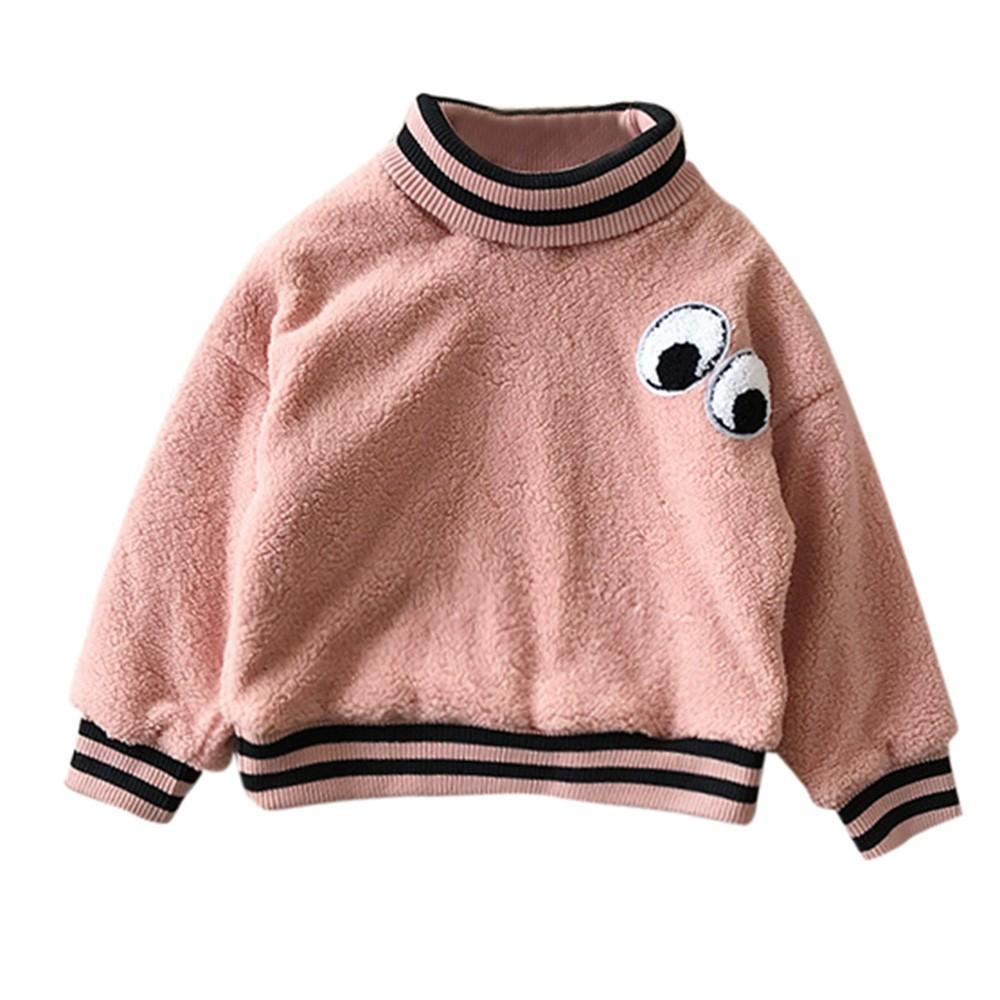 b752fcfcdd26 Toddler Baby Girls Sweatshirts Kids Thicken Plus Velvet Sweater ...