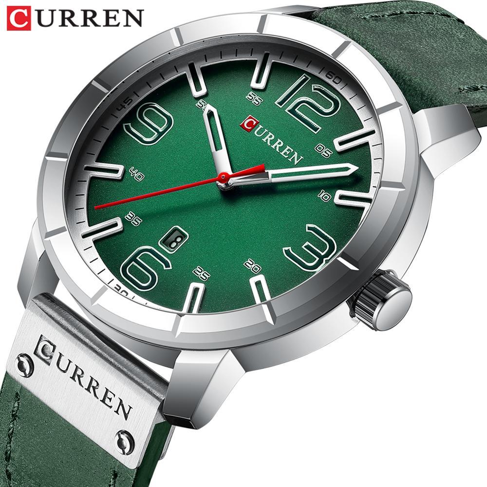 5e3c018ca14e Compre Nuevo 2019 Relojes De Pulsera De Cuarzo Para Hombre Relojes CURREN  Reloj De Pulsera De Cuero De La Mejor Marca Para Hombres Reloj Relogio  Masculino ...