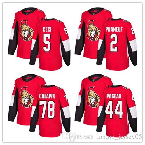 2018 Ottawa Senators Jerseys  5 Cody Ceci 2 Dion Phaneuf 78 Erik Karlsson  Jersey Men WOMEN YOUTH Men S Baseball Jersey UK 2019 From Toptop jersey05 59191074eb