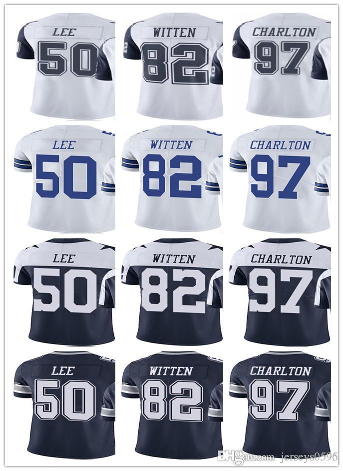 pretty nice 22408 48765 Dallas Men Women Youth Cowboys Jersey #50 Sean Lee 82 Jason Witten 97 Taco  Charlton Vapor Limited Rush Jerseys