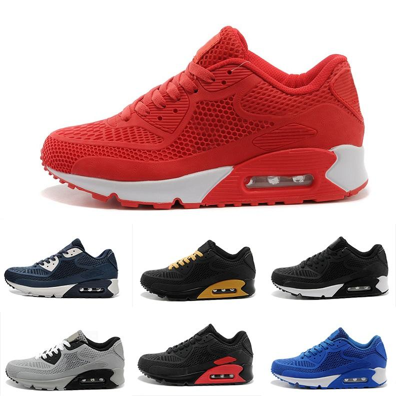 Nike Air Max 90 90 Barato Venta Caliente TAVAS SE 90 aires Thea Print Hombres mujeres Alta Calidad Descuento Entrenadores Auténtico 87 Airs Zapatos