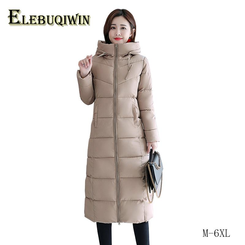 de26a2233ad 6XL Plus Size Winter Jacket Women Parka 2018 New Hooded Thicken Long Coat  Slim Warm Casual Outerwear Female Cotton Clothing L532 Parkas Cheap Parkas  6XL ...