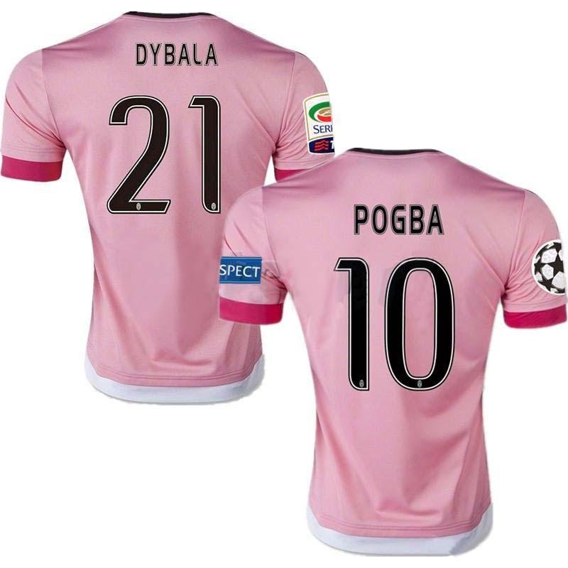 best service cab7f 0f629 2015/16 Juventus Champions League Soccer Jerseys Dybala Ronaldo Pogba  Futbol Camisa Football Camisetas Shirt Kit Maillot Juve
