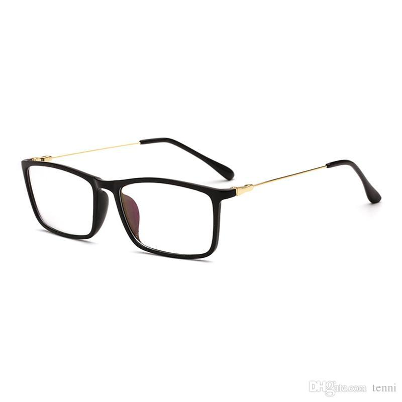 df52ce794a2 Mincl Square Metal Myopia Glasses Frame Fahion Comfortable Reading ...