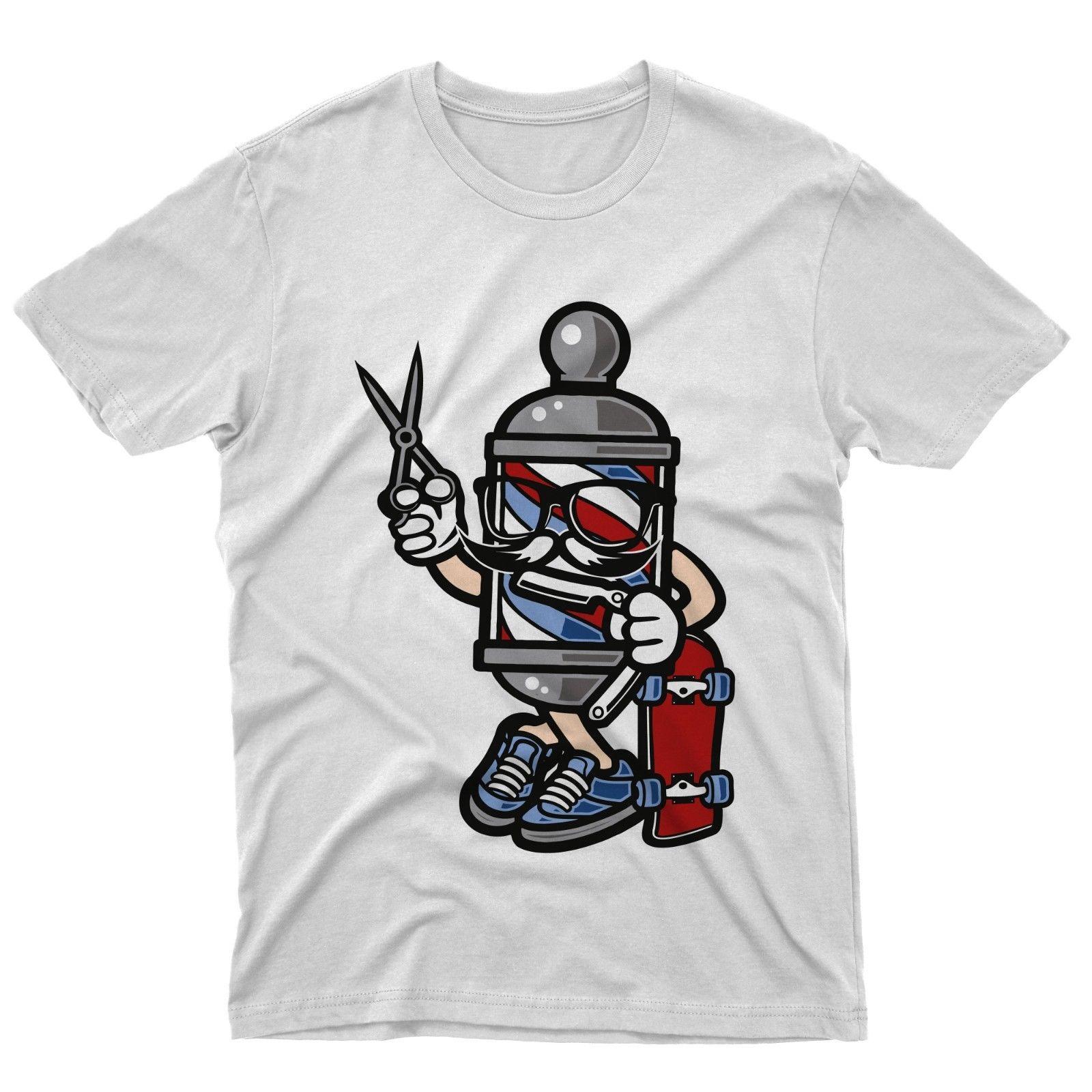 Camiseta Moda Tijeras Barbero Patinador Mujeres Gratis Animados Envío Fm10 Hombres Unisex Pelo Dibujos WrCodxeB
