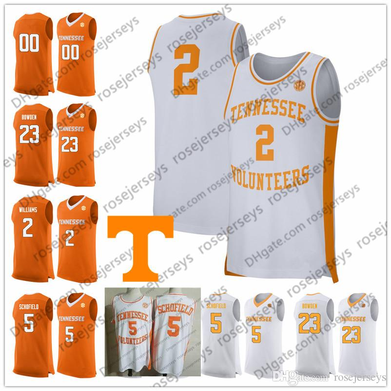 best service 928de 0577c Custom Tennessee Volunteers 2019 Basketball orange white Any Name Number 2  Grant Williams 5 Admiral Schofield 0 Bone Turner Bowden Jerseys