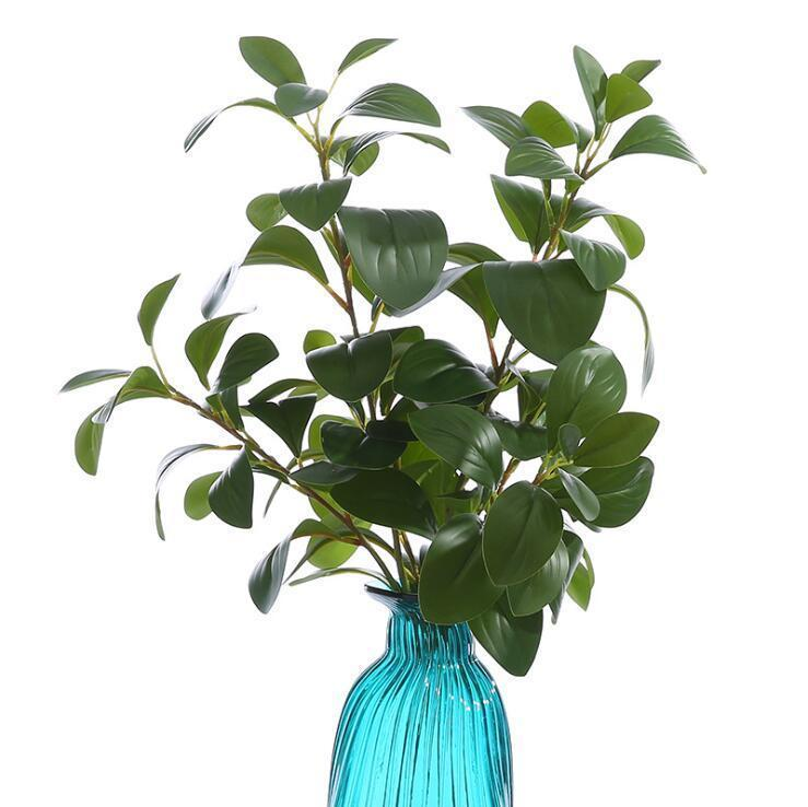 2019 Real Touch 3d Print Ficus Tree Branches Artificial Leaves Faux