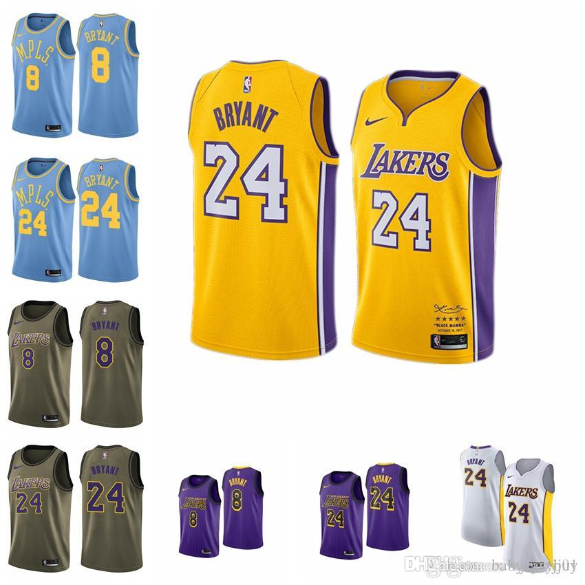 new style 7a516 78d1f 2019 23 LeBron James Lakerss Jersey The City Los Angeles Kobe 24 Bryant 8  Lonzo 2 Ball Kyle 0 Kuzma Brandon 14 Ingram ball Jersey NEW