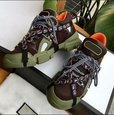 Flashtrek zapatos casuales con cristales extraíbles Diseñador de mujeres Zapatillas de correr Zapatos de escalada de montaña Botas de senderismo para