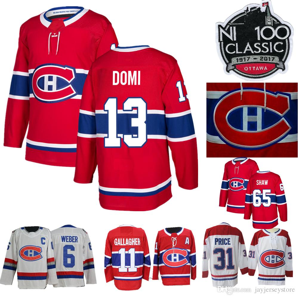 free shipping 9541b 0b742 2019 Montreal Canadiens Jersey Beliveau Weber Richard Brendan Gallaghe Domi  Galchenyuk Price Shaw Pacioretty Drouin Men Women Youth 100th