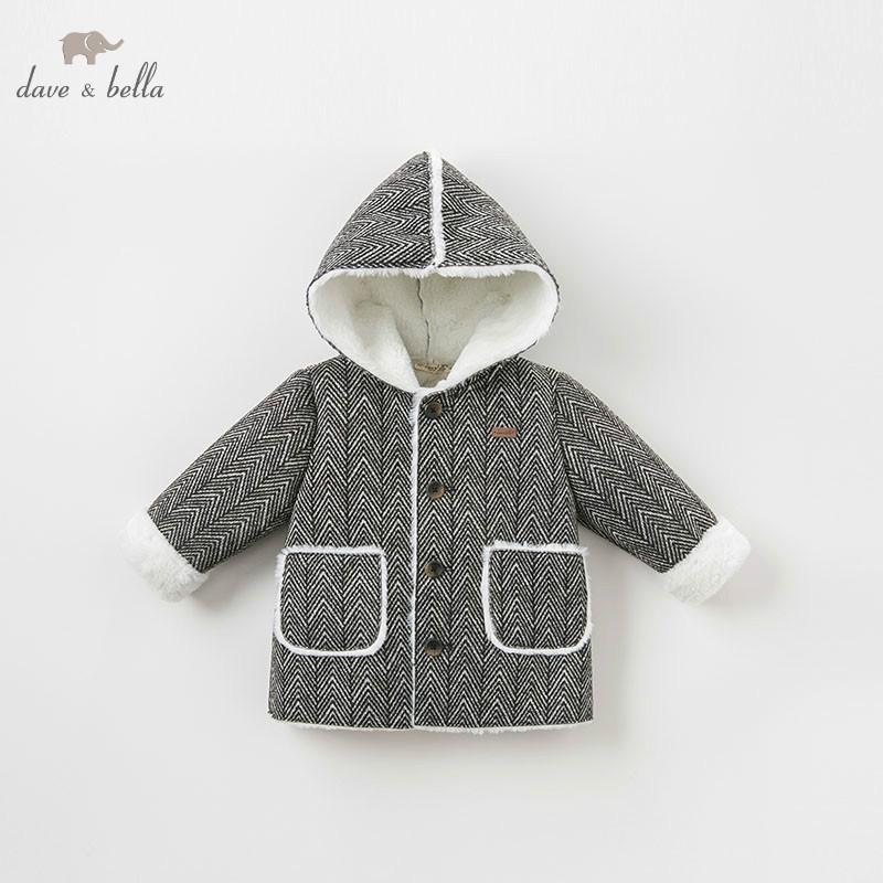 9d0fd35f1bd32 DB8706 Dave Bella Baby Boy Jacket Children Outerwear Fashion Coat Black White  Coat Kids Parkas Coats Coats For Little Girl From Hanlley