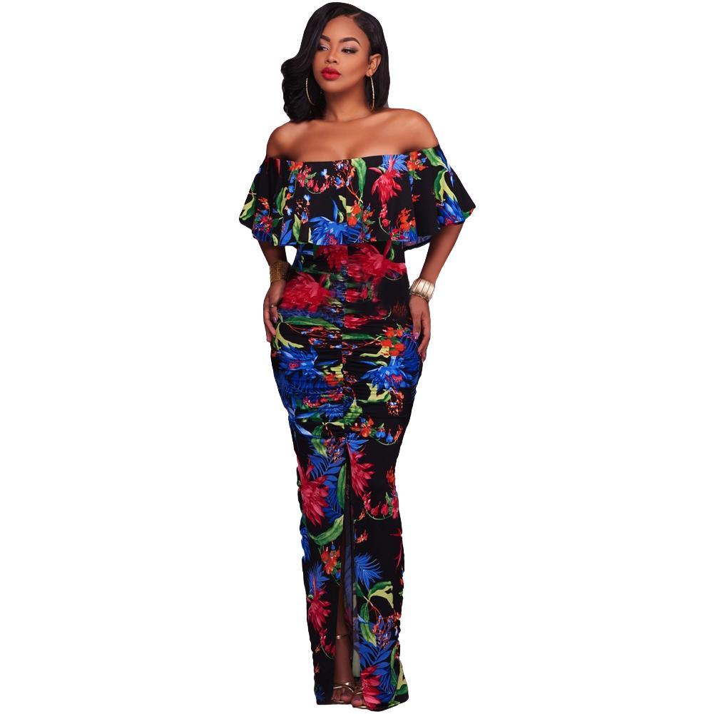 Bohemian Style Maxi Dress Elegant Long Beach Dress Summer Boho Dress ...