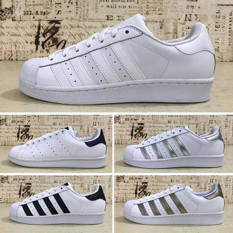 100% authentic 41940 f7d50 Großhandel Adidas Superstar Junior 2018 Superstar Original Weiß Hologramm  Schillernden Junior Gold Superstars Sneakers Originals Super Star Frauen  Männer ...