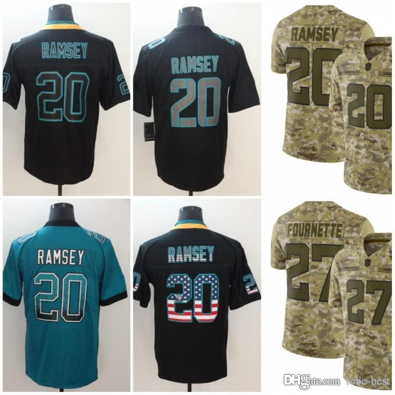 check out ef3bc 0b9ab Jacksonville 20 Jalen Ramsey Jerseys 27 Leonard Fournette Jaguars 2018  Salute to Service USA Flag Lights out Black Rush Drift Camo Limited