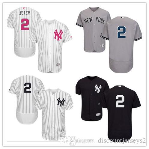 pretty nice 379f0 456cd 2019 can Yankees Jerseys #2 Derek Jeter Jerseys men#WOMEN#YOUTH#Men s  Baseball Jersey Majestic Stitched Professional sportswear