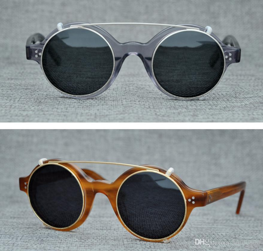e921054d3681 Brand Round Polarized Sunglasses Eyewear Clip On Sunglasses For Men Women  Sun Glasses Myopia Eyeglasses Frames Optical Glasses With Box Sunglasses  Case ...