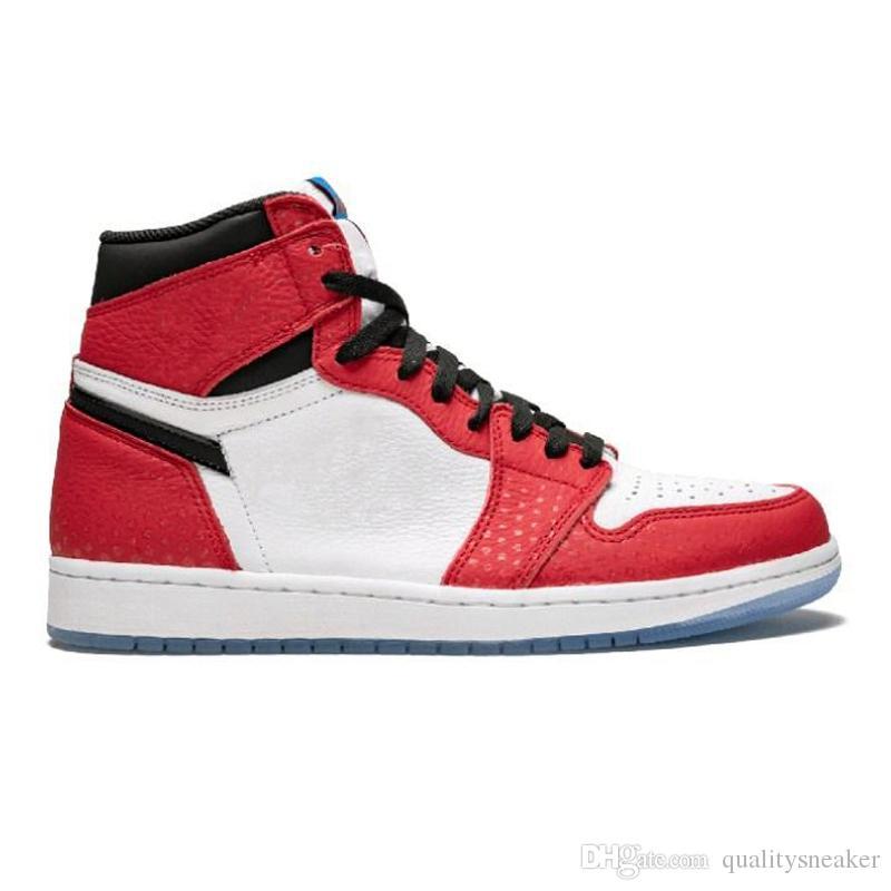 f24b9c117676b 2019 New 1 OG Spider Man Origin Story Mens Basketball Shoes Best Quality  2019 Chicago Crystal 1s Spiderman Designer Men Sneakers Sport Shoes From ...